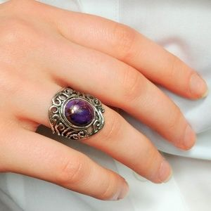 Jewelry - Purple Copper Turquoise Ring